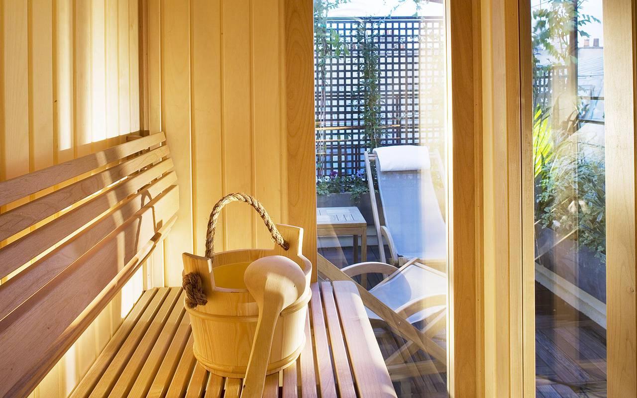Sauna hôtel de charme Relais Madeleine